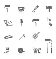 Painting icons black vector image vector image