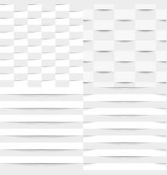 Set of white geometric seamless textures vector