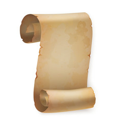 Vertical vintage paper roll or parchment scroll vector image