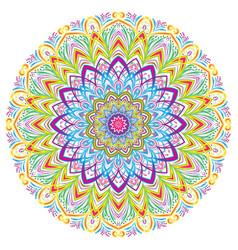 colorful mandala vintage decorative elements vector image