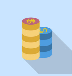 gambling chips single flat icon on blue vector image