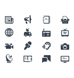 Journalism icons vector image vector image