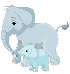 14elephant family001 vector image
