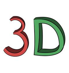 3d word written color icon cartoon vector
