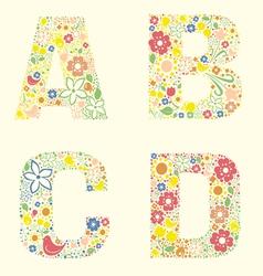 A B C D letters vector image
