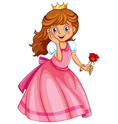 A happy little princess vector