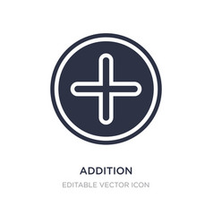Addition icon on white background simple element vector