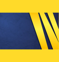 blue background paper layer with yellow vector image