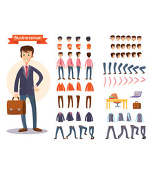 businessman cartoon personage generator vector image