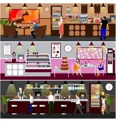 Cafe interior Design of vector