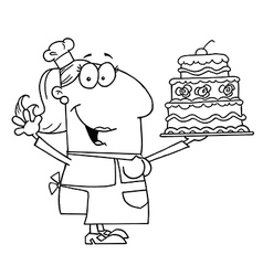 Cartoon baker vector image