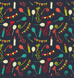 celebratory seamless pattern with gifts swirls vector image