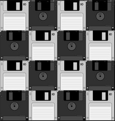Chess computer disquettes vector