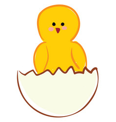 chick from egg or color vector image