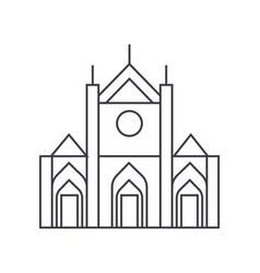 church sign line icon sign vector image