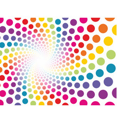 Circular background made up of colored dots to be vector