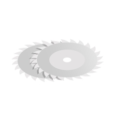 Circular saw blade icon isometric 3d style vector image