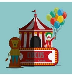Circus and carnival design vector image