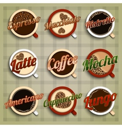 Coffee menu labels set vector image