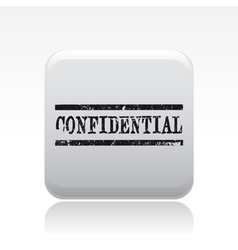Confidential stamp icon vector