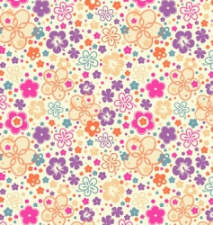 Ditsy summer floral vector