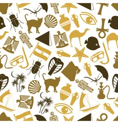 Egypt country theme color icons seamless pattern vector