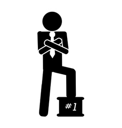 first place businessman icon vector image
