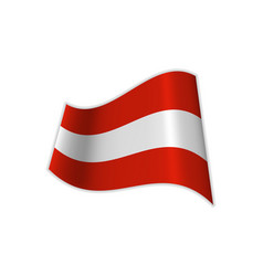 Flag of austria is red and white vector