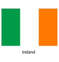 Flag of the country ireland vector