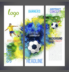 Football championship 2016 Sports banners vector image