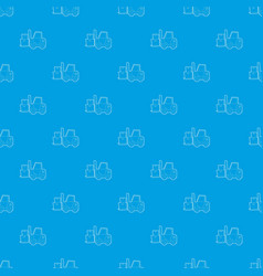 forklift pattern seamless blue vector image