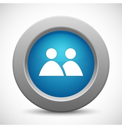 Friends button vector