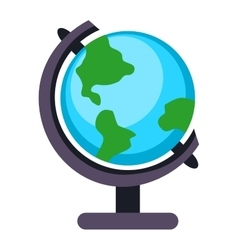 Globe earth icon vector image