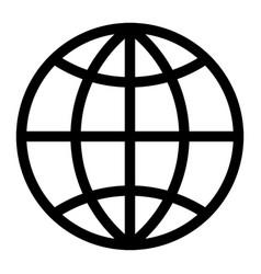globe earth world wire frame round circular round vector image