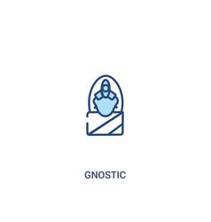 Gnostic concept 2 colored icon simple line vector