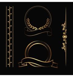 Gold contour decorations vector