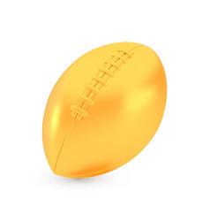 golden american football award concept shiny vector image