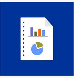 graphic memo in financial or scientifically vector image