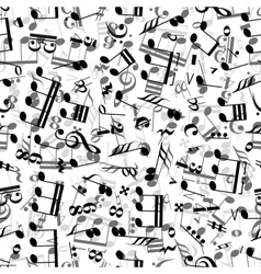Gray and black music signs on white background vector