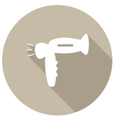 hair dryer with a long shadow vector image