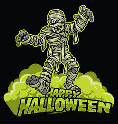 Halloween design of mummy vector