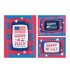 Happy 4th of july abstract with paper vector