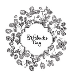 Happy st patricks day natural template vector