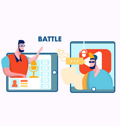 internet blogger battle flat vector image