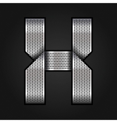 Letter metal chrome ribbon - X vector