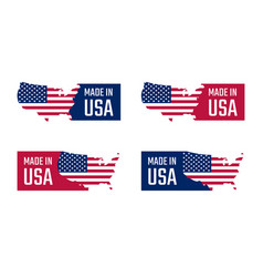 made in the usa labels set american product vector image