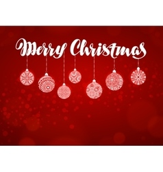 Merry Christmas banner Xmas decoration vector image