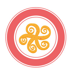Octopus sea food icon vector