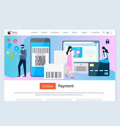 online payment secure processing money transit vector image