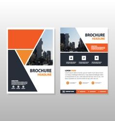 Orange triangle annual report Leaflet template set vector image